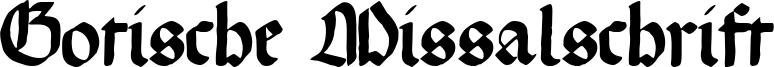 Gotische Missalschrift Font