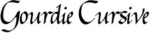 Gourdie Cursive Font