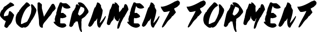 Government Torment Font