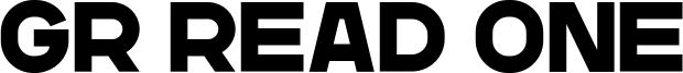 GR Read One Font