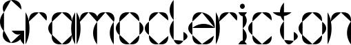 Gramoclericton Font