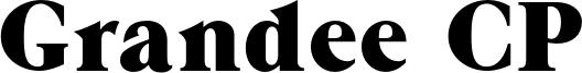 Grandee CP Font