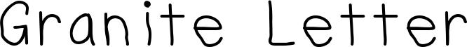 Granite Letter Font