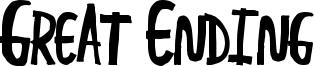 Great Ending Font