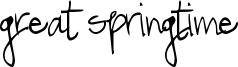 Great Springtime Font