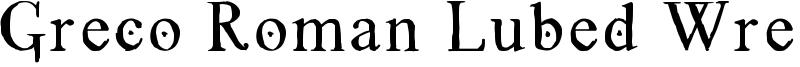 Greco Roman Lubed Wrestling Font
