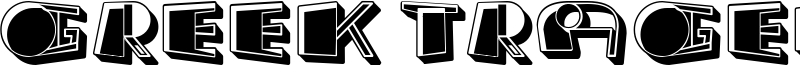 Greek Tragedy Font