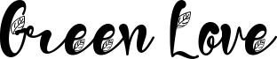 Green Love Font