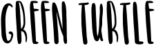 Green Turtle Font