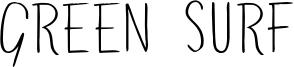 Green Surf Font