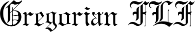 Gregorian FLF Font