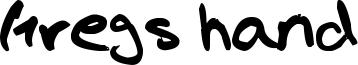 Gregs hand Font