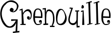Grenouille Font