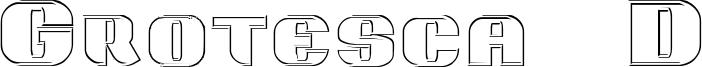 Grotesca 3D Font