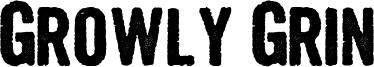 Growly Grin Font