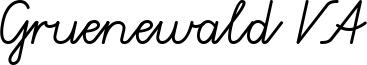 Gruenewald VA Font