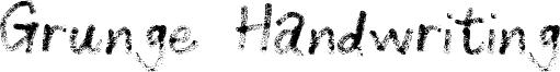 Grunge Handwriting Font