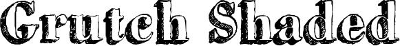 Grutch Shaded Font