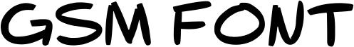 GSM Font Font