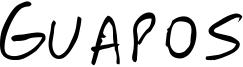 Guapos Font