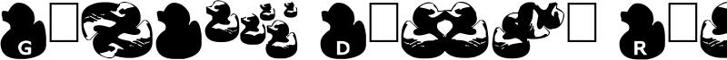 Gugli Ducky Rubber Font