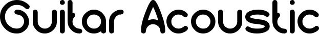 Guitar Acoustic Font