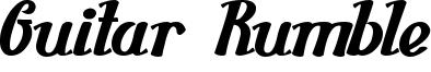 Guitar Rumble Font