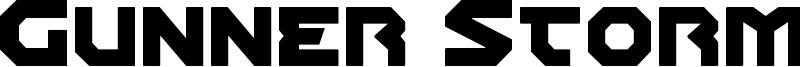 Gunner Storm Font