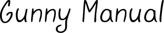 Gunny Manual Font