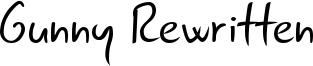 Gunny Rewritten Font
