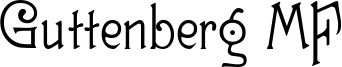 Guttenberg MF Font