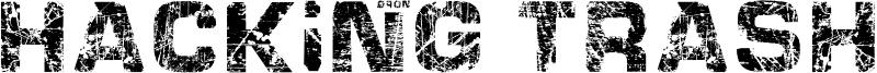 Hacking Trashed Font
