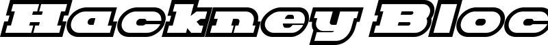 Hackney Block Outline Italic.ttf