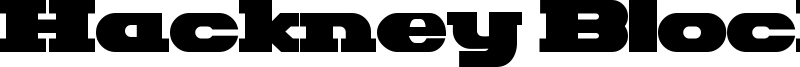 Hackney Block Font