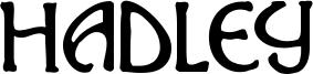 Hadley Font