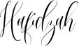 Hafidzah Font