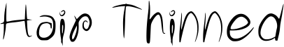 Hair Thinned Font