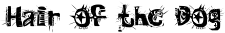 Hair of the Dog Font