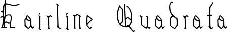 Hairline Quadrata Font