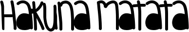 Hakuna Matata Font