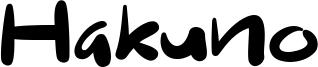 Hakuno Font