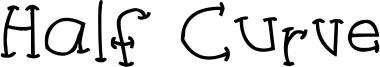 Half Curve Font