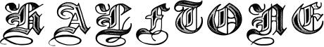 Halftone Font