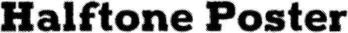 Halftone Poster Font