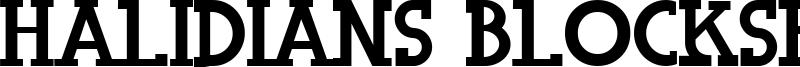Halidians Blockserif Font