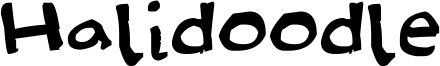 Halidoodle Font