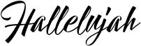 Hallelujah Font