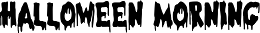 Halloween Morning Font