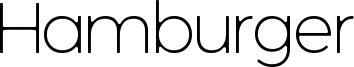 Hamburger Font