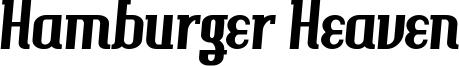 Hamburger Heaven Font